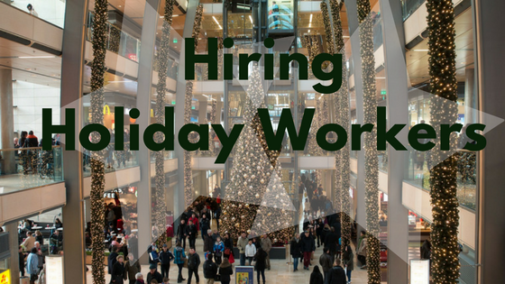 Hiring holiday workers banner